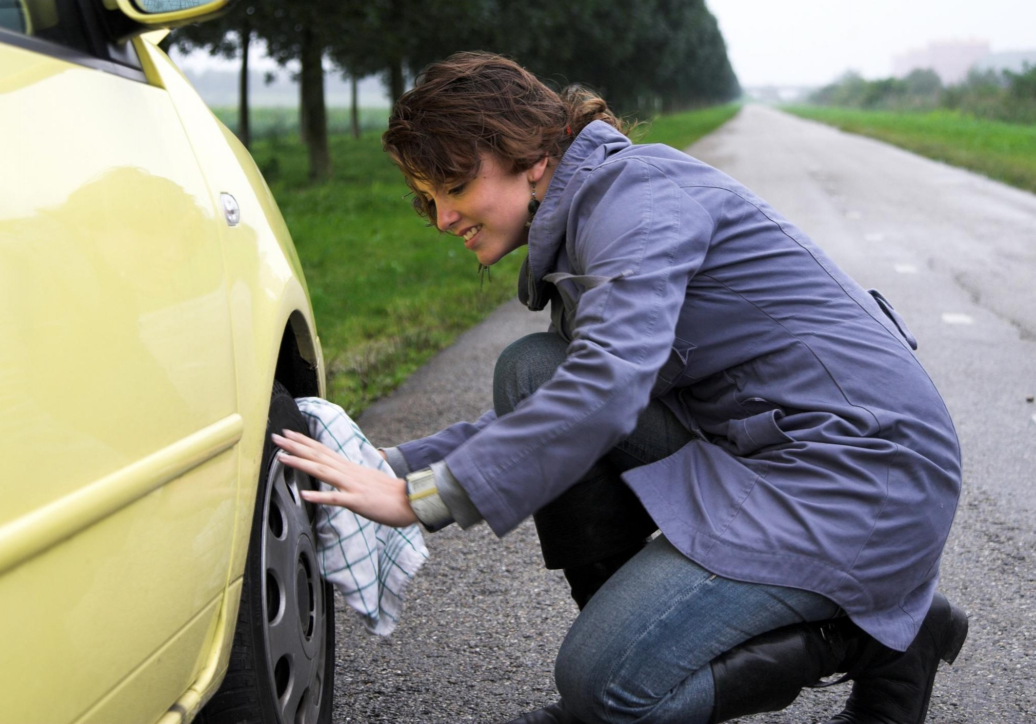 This is a picture of an emergency roadside assistance.